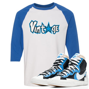 Air Max Sacai Blazer University Blue Sneaker Hook Up Vintage Logo with Star White and Blue Ragalan T-Shirt