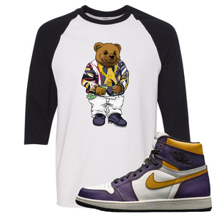 This white and black t-shirt matches great with your Nike SB x Air Jordan 1 OG Court purple shoes