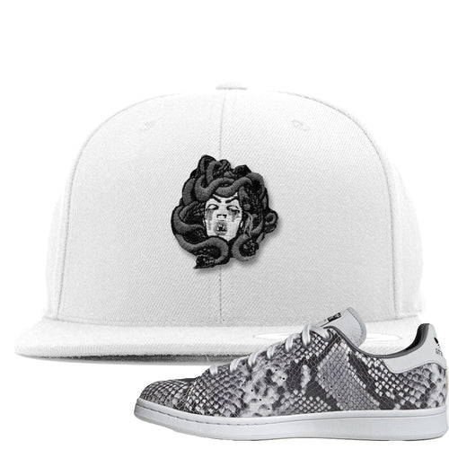 Adidas Stan Smith Grey Snakeskin Sneaker Match Medusa White Snapback