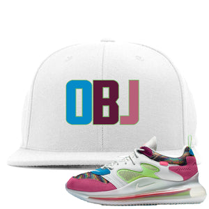 OBJ x Nike Air Max 720 Sneaker Hook Up OBJ White Snapback