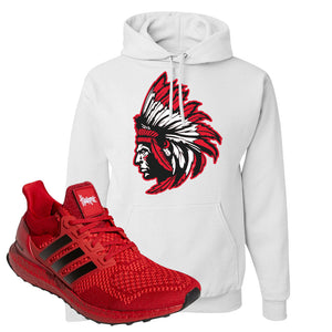 Ultra Boost 1.0 Nebraska Hoodie | Indian Chief, White