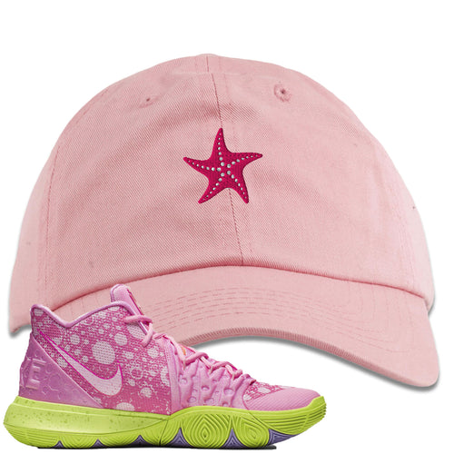 Spongebob Squarepants x Nike Kyrie 5 Patrick Star Sneaker Match Starfish Light Pink Dad Hat