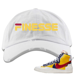 Air Max Sacai Blazer Mid Varsity Maize Sneaker Hook Up Finesse White Distressed Dad Hat
