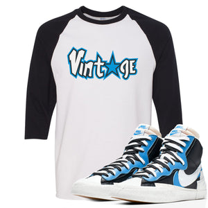 Air Max Sacai Blazer University Blue Sneaker Hook Up Vintage Logo with Star White and Black Ragalan T-Shirt