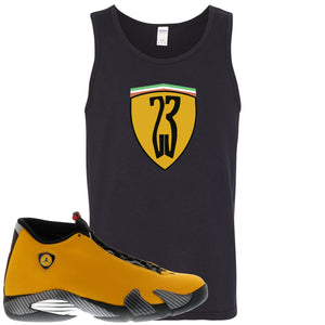 Reverse Ferrari 14s Sneaker Hook Up 23 Ferrari Logo Black Mens Tank Top