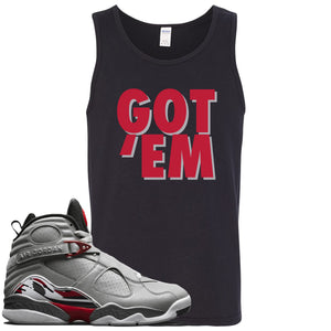 Air Jordan 8 Reflections of a Champion Sneaker Hook Up Got Em Black Mens Tank Top