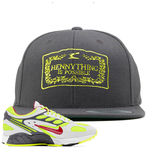 Nike Air Ghost Racer Neon Yellow Sneaker Match Hennything is Possible Dark Gray Snapback