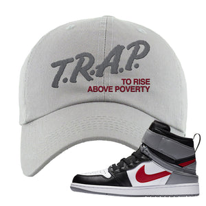 Air Jordan 1 Flyease Dad Hat | Light Gray, Trap To Rise Above Poverty
