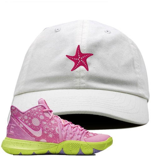 Spongebob Squarepants x Nike Kyrie 5 Patrick Star Sneaker Match Starfish White Dad Hat