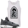 Air Jordan 4 Cool Grey 2019 Sneaker Hook Up Stained Glass Baby White Mens Tank Top