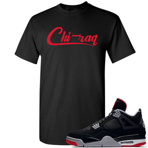 This black and red t-shirt will match great with your Air Jordan 4 Bred shoes
