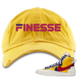 Air Max Sacai Blazer Mid Varsity Maize Sneaker Hook Up Finesse Yellow Distressed Dad Hat
