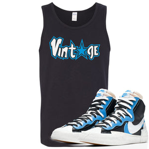 Air Max Sacai Blazer University Blue Sneaker Hook Up Vintage Logo with Star Black Mens Tank Top