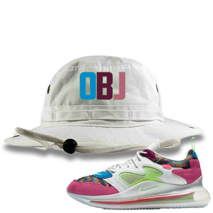 OBJ x Nike Air Max 720 Sneaker Hook Up OBJ White Bucket Hat