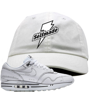Nike Air Max 1 Sketch to Shelf White Sneaker Hook Up Self Made White Dad Hat