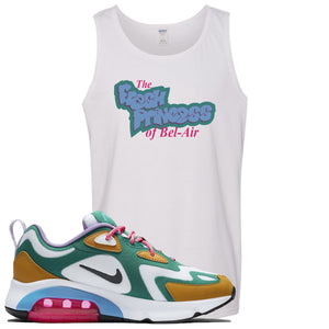 Nike WMNS Air Max 200 Mystic Green Sneaker Hook Up Fresh Princess White Mens Tank Top