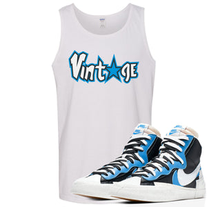 Air Max Sacai Blazer University Blue Sneaker Hook Up Vintage Logo with Star White Mens Tank Top
