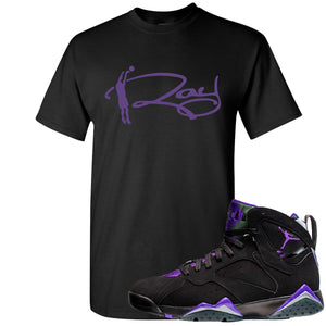 Air Jordan 7 Ray Allen Sneaker Hook Up Ray Signature Black T-Shirt