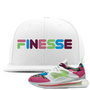 OBJ x Nike Air Max 720 Sneaker Hook Up Finesse White Snapback