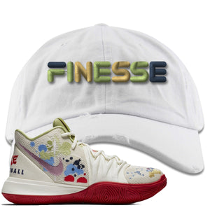 Bandulu x Nike Kyrie 5 Sneaker Hook Up Finesse White Distressed Dad Hat