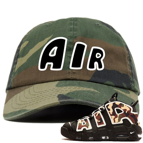 Nike Air More Uptempo Camo Sneaker Match Air Camouflage Dad Hat