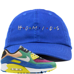 Nike Air Max 90 Viotech 2.0 Sneaker Hook Up Homies Blue Dad Hat