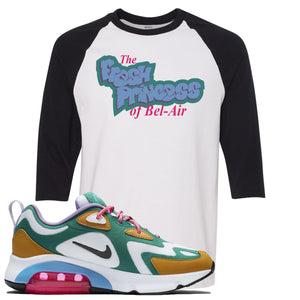 Nike WMNS Air Max 200 Mystic Green Sneaker Hook Up Fresh Princess White and Black Raglan T-Shirt