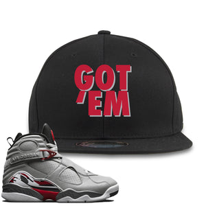 Air Jordan 8 Reflections of a Champion Sneaker Hook Up Got Em Black Snapback