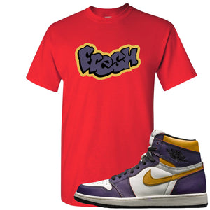 Nike SB x Air Jordan 1 OG Court Purple Sneaker Hook Up Fresh Red T-Shirt