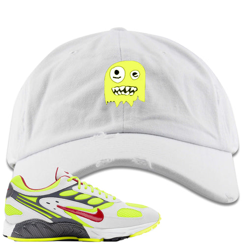 Nike Air Ghost Racer Neon Yellow Sneaker Match Ghost White Distressed Dad Hat