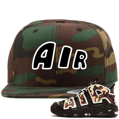 Nike Air More Uptempo Camo Sneaker Match Air Camouflage Snapback
