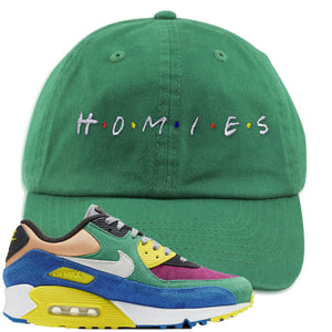 Nike Air Max 90 Viotech 2.0 Sneaker Hook Up Homies Kelly Green Dad Hat