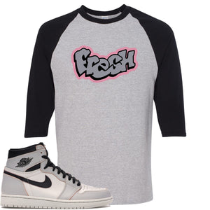 This grey and black t-shirt will match great with your Nike SB x Air Jordan 1 Retro High OG Light Bone shoes