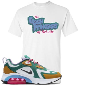 Nike WMNS Air Max 200 Mystic Green Sneaker Hook Up Fresh Princess White T-Shirt