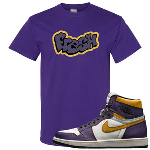 Nike SB x Air Jordan 1 OG Court Purple Sneaker Hook Up Fresh Purple T-Shirt