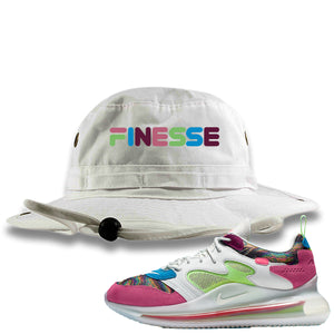 OBJ x Nike Air Max 720 Sneaker Hook Up Finesse White Bucket Hat