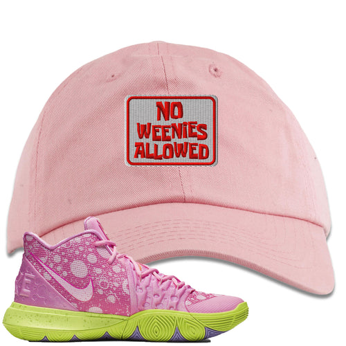 Spongebob Squarepants x Nike Kyrie 5 Patrick Star Sneaker Match No Weenies Allowed Light Pink Dad Hat