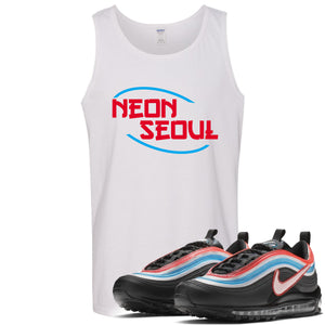 Air Max 97 Neon Seoul Sneaker Hook Up Neon Seoul in English White Mens Tank Top