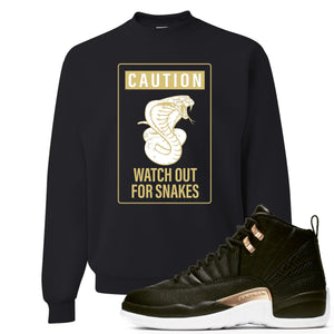 Jordan 12 WMNS Reptile Sneaker Hook Up Caution Snake Black Sweater