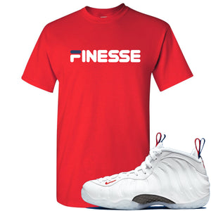Nike WMNS Air Foamposite One USA Sneaker Hook Up Finesse Red T-Shirt