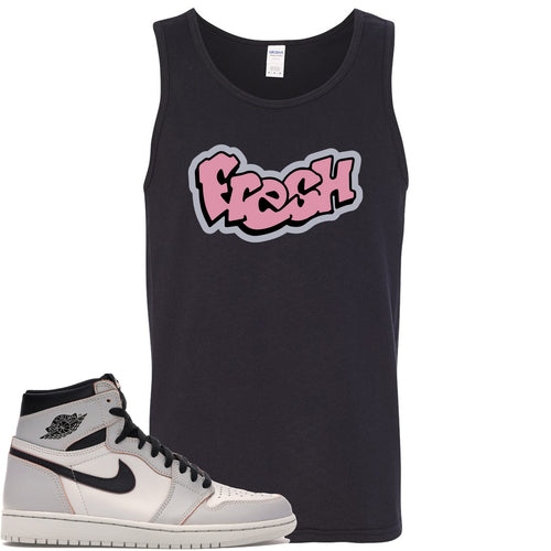 This black and pink tanktop will match great with your Nike SB x Air Jordan 1 Retro High OG Light Bone shoes