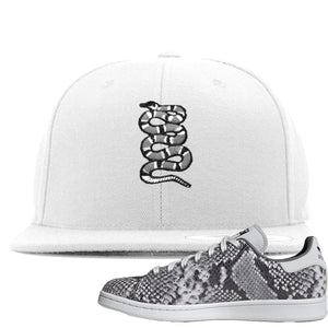 Adidas Stan Smith Grey Snakeskin Sneaker Hook Up Coiled Snake White Snapback