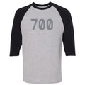 "Adidas Yeezy Boost 700 V2 Tephra Sneaker Hook Up ""700"" Sports Gray and Black Raglan T-Shirt"