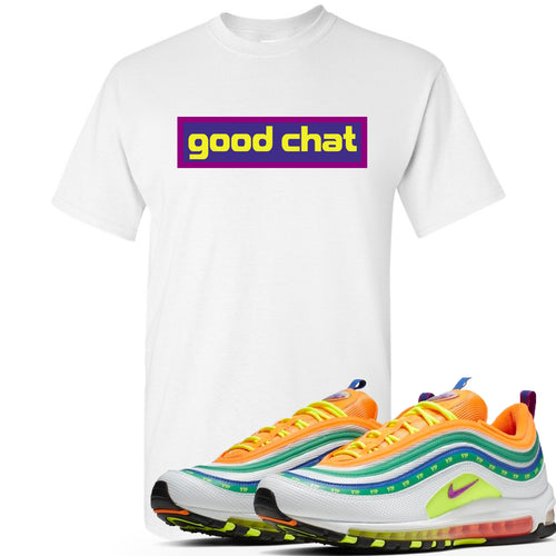 Air Max 97 Summer of Love Sneaker Match Good Chat White T-Shirt