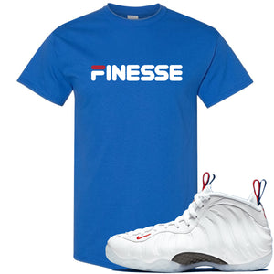 Nike WMNS Air Foamposite One USA Sneaker Hook Up Finesse Royal Blue T-Shirt