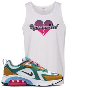 WMNS Air Max 200 Mystic Green Sneaker Hook Up Misunderstood White Mens Tank Top