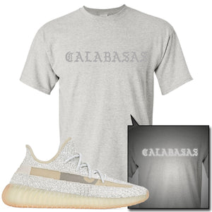 Adidas Yeezy Boost 350 v2 Lundmark Reflective Sneaker Hook Up Calabasas Sports Grey T-Shirt