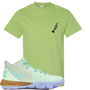 Nike Kyrie 5 Squidward Sneaker Hook Up Clarinet Mint Green T-Shirt