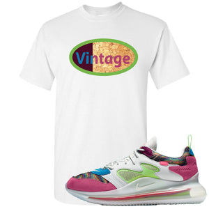 OBJ x Nike Air Max 720 Sneaker Hook Up Vintage Logo White T-Shirt
