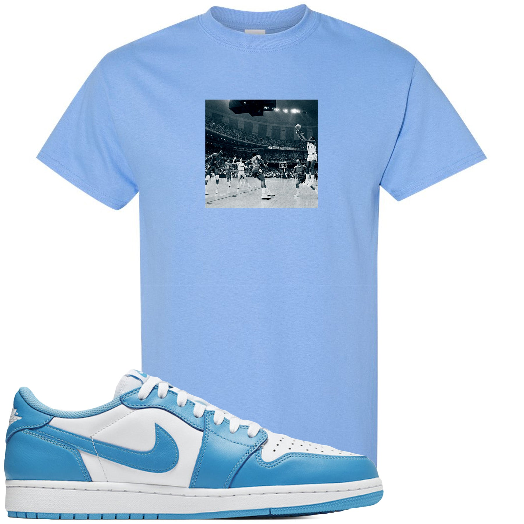 Nike Sb X Air Jordan 1 Low Unc Sneaker Hook Up Game Winner Light